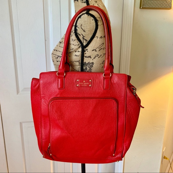 kate spade Handbags - Kate space New York cobble hill red leather tote